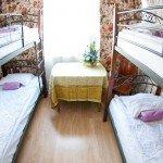 Номер для четырех гостей в хостеле Artist Hostel на Арбатской