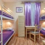 Номер для 4-х гостей в хостеле в центре Москвы рядом с Курским Вокзалом и метро Курская