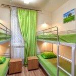 Общий номер для четверых гостей в хостеле в Москве возле Курского Вокзала. Артист Хостел.